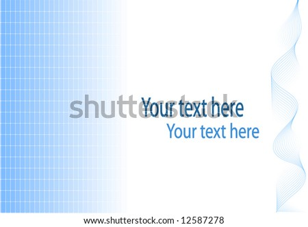 Background illustration in blue and white with plenty of space for text, available in vector format