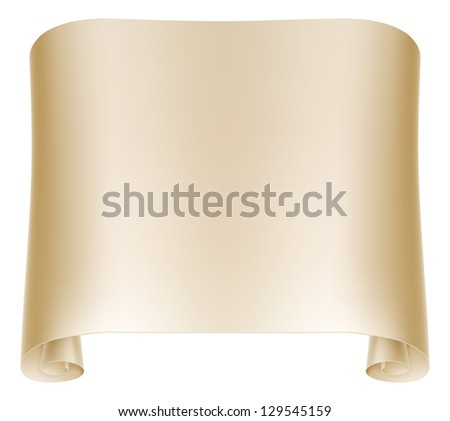 Background illustration of an old rolled up paper scroll - stock photo