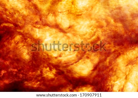 Background image of a fiery explosion - stock photo