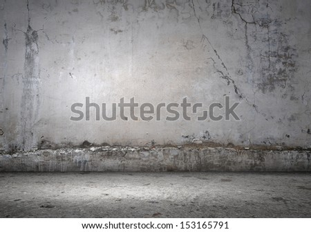 Background image of cement blank wall. Place for text - stock photo