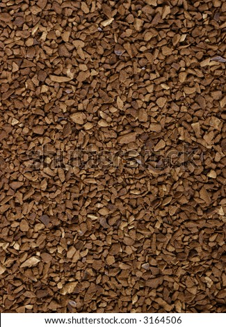 Background image of instand coffee grounds - stock photo