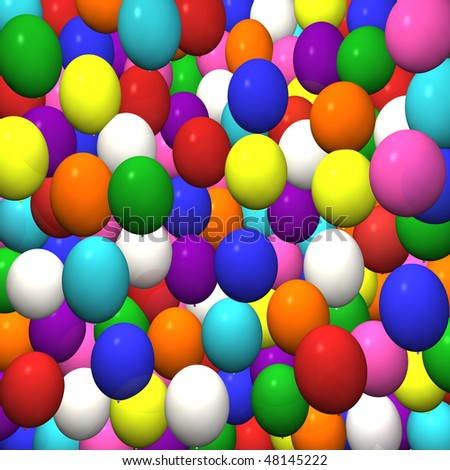 Background image of many colorful balloons.