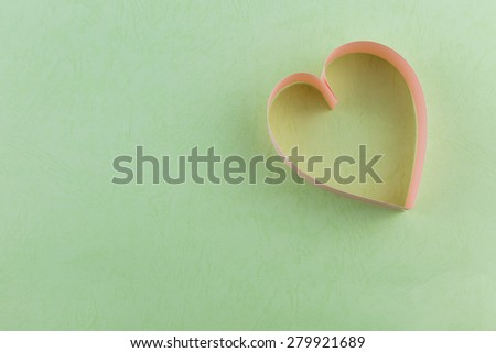 background image of paper craft's heart background - stock photo