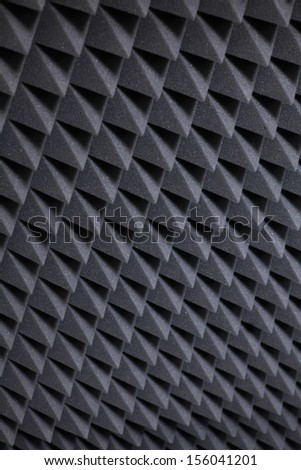 Background image of recording studio sound dampening  - stock photo
