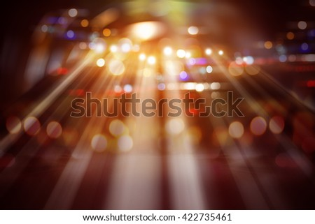 Background image of stage in color lights - stock photo