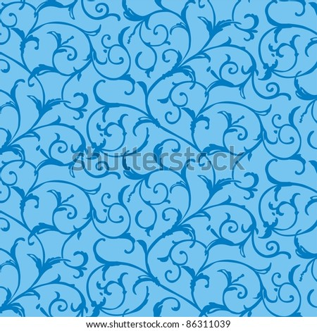 background in blue color.