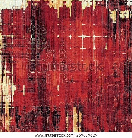 Background in grunge style. With different color patterns: red (orange); brown; black; pink - stock photo