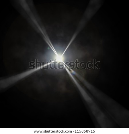 Background in show. Interior shined with a projector. Spotlight on smog - stock photo