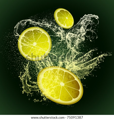 BACKGROUND LEMON - stock photo