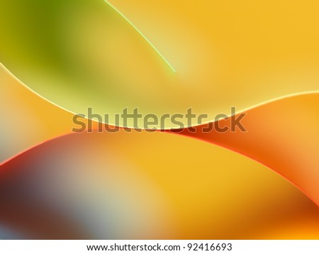 background macro image of colored origami pattern made of curved sheets of paper - stock photo