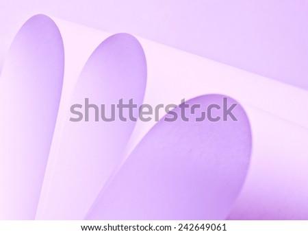 background macro image of origami pattern made of curved sheets of paper.  - stock photo