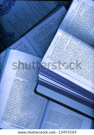 background made from opened books - stock photo