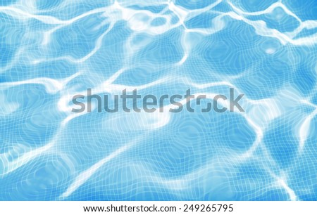 background made of a close-up of pool water  - stock photo