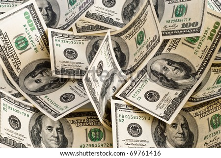 background made of american dollars - stock photo
