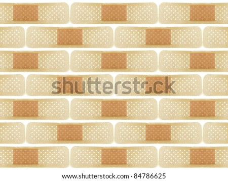 Background made of bands isolated over white background - stock photo