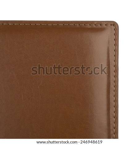 Background made of brown leather cover