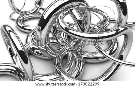 Background made of chrome swirls