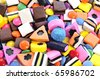Background made of colorful candy - stock photo