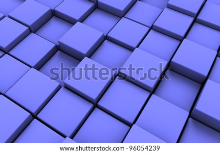 background made of 3d  blue cubes
