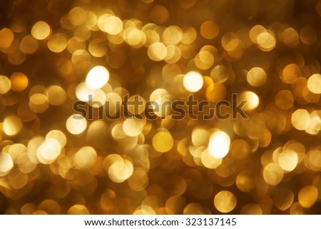 Background made of defocused ligths of the Christmas decorations - stock photo