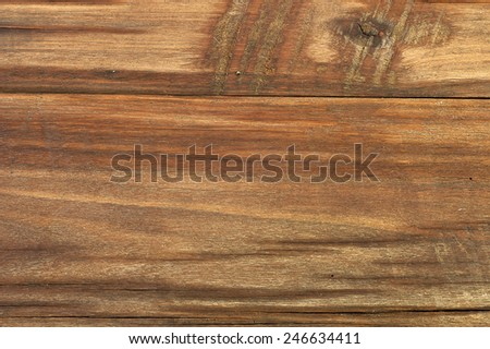 Background made of old brown wooden table - stock photo