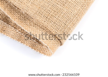 background made of old sackcloth - close up image