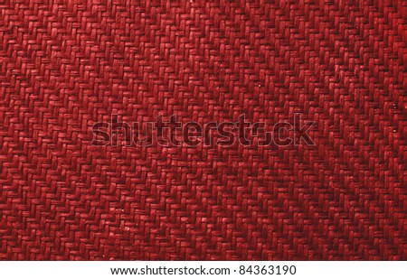 Background made of red braid - stock photo