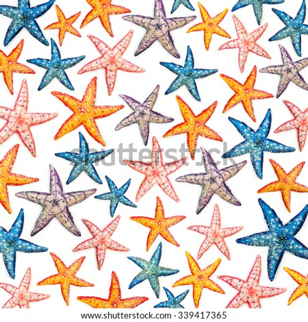 Background made of star fish - stock photo