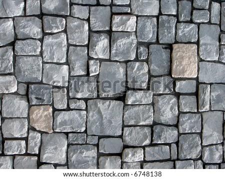 background made of stone granite - stock photo