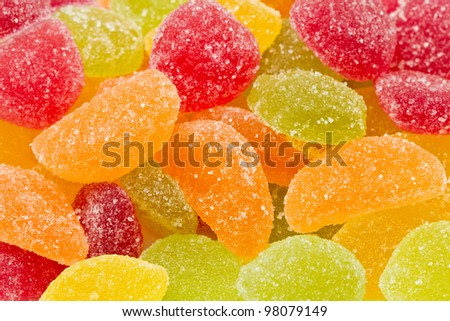 Background made of  sweets - stock photo