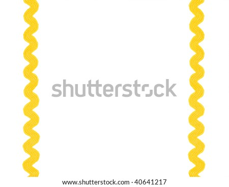 background made of yellow lace - stock photo