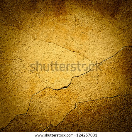 Background made with a texture of a yellow wall