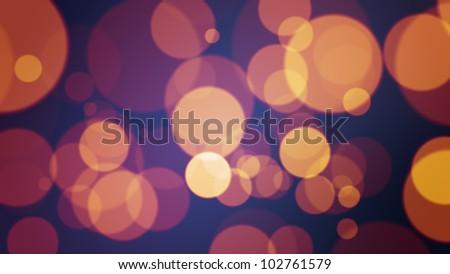 Background made with defocused bokeh orange ligths over dark blue - stock photo