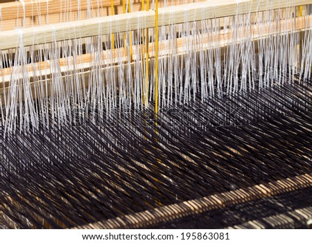 background made with loom threads  - stock photo
