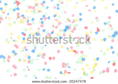 Background made with lots of colorful confettis - stock photo