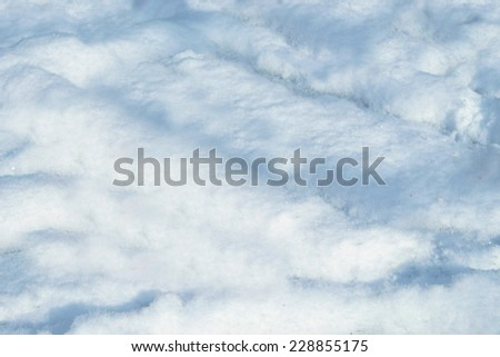 background made with white snow - stock photo