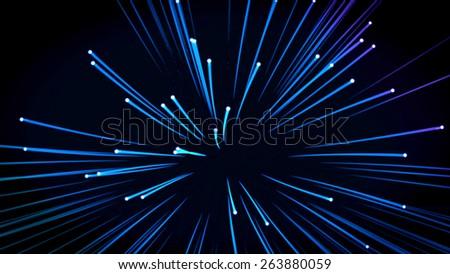 background: many optical fibers - stock photo