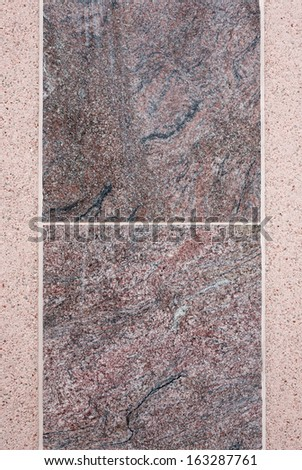 Background - marble tiles on concrete wall - stock photo