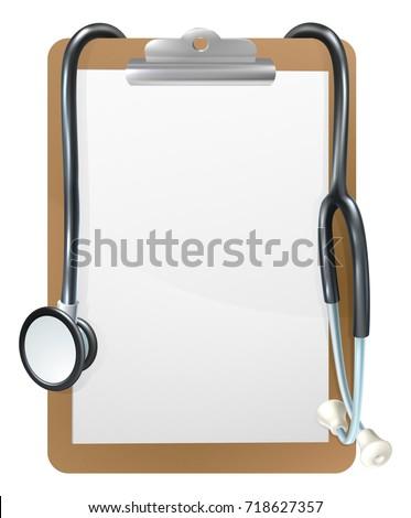 Background Medical Frame Illustration Clipboard Doctors Stock ...