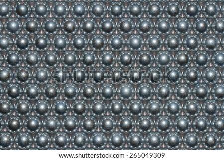 Background metal balls - stock photo