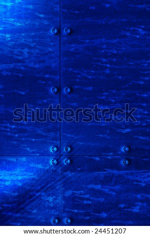 Background. Metal texture in blue color
