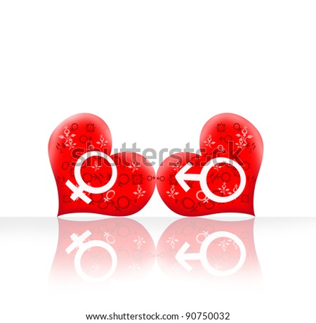 background model of the heart. - stock photo