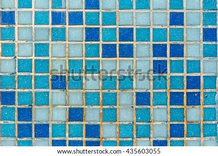 Background mosaic wall in blue color