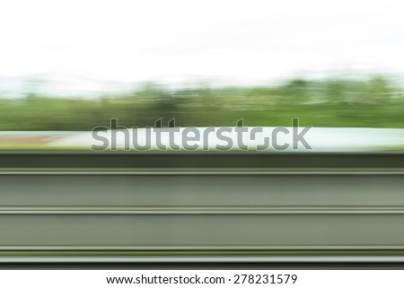 Background Motion Blur in green color - stock photo