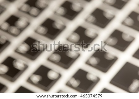 background notebook keyboard with soft focus