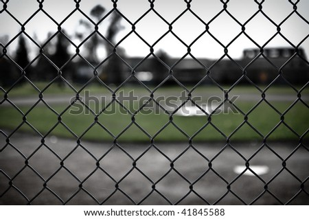 Contemporary Baseball Chain Link Fence Background Diamond Through To Decorating