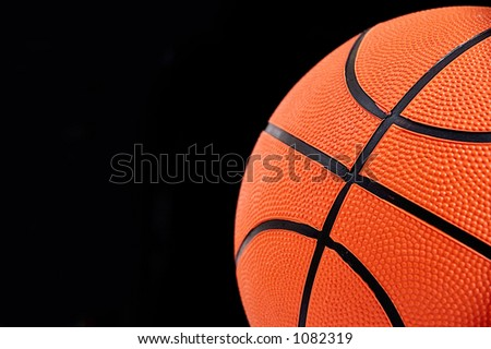 Background of a basketball ball.