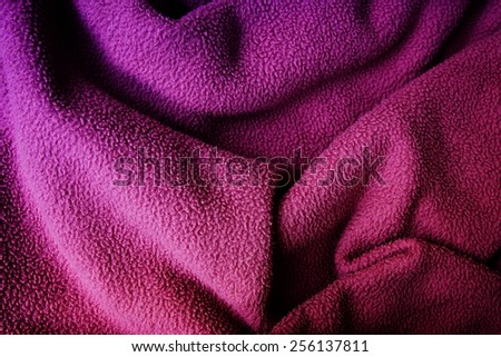Background of a pink blanket - stock photo