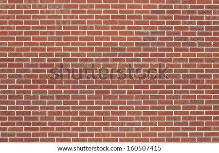 Background of a red brick wall texture - Far Distance - stock photo
