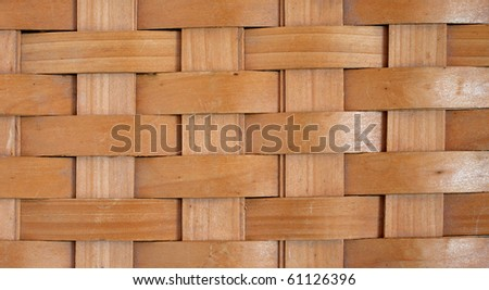 Background of a rustic basket weave made from wood.